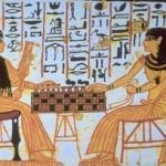 ancient egyptians playing board game