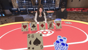 point of view from a vr casino game