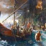 a viking painting