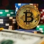 bitcoin among poker chips
