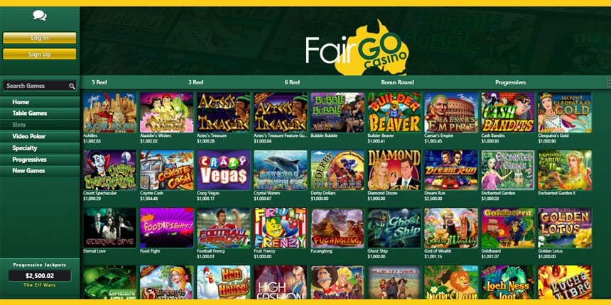 Bonus and free spins at Fair Go Casino