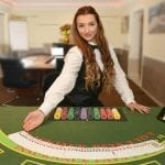 a casino girl dealer