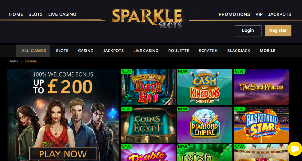 Sparkle Slots Free Spins NZ