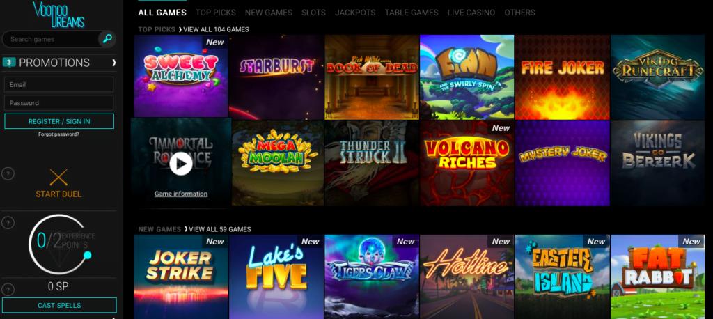 Voodoo Dreams Casino Review - Free Spins Bonus NZ - 2019