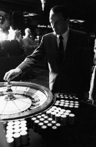 frank sinatra playing roulette