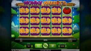 wonky wabbits slot game