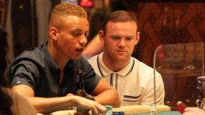 wayne rooney on the right playing poker